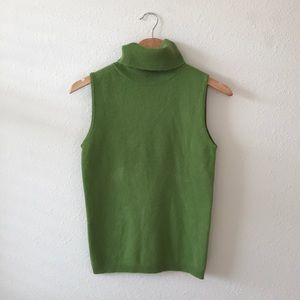 BCBGMaxAzria 100% Cashmere Sleeveless Sweater